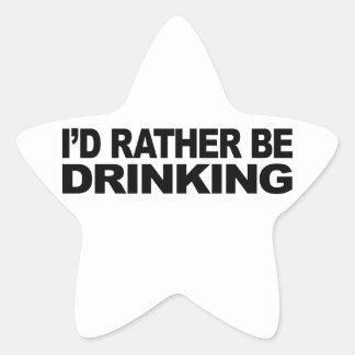 Estaría bebiendo bastante pegatina en forma de estrella