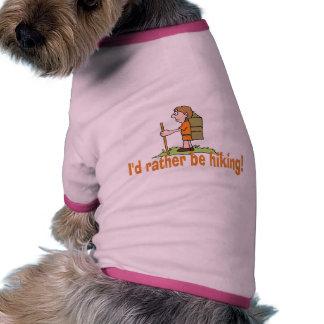¡Estaría caminando bastante! Camiseta De Mascota