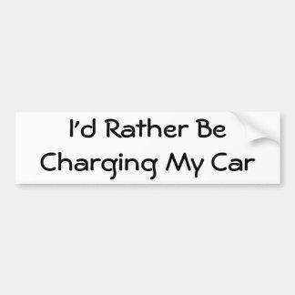 Estaría cargando bastante mi coche pegatina para auto