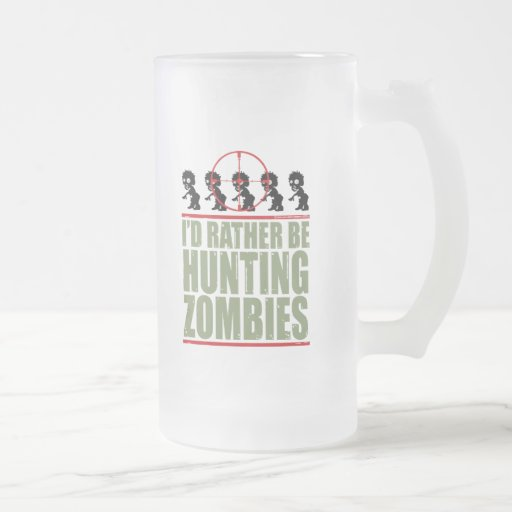 Estaría cazando bastante a zombis taza cristal mate