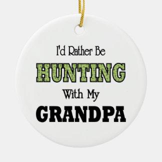 Estaría cazando bastante con el abuelo adorno navideño redondo de cerámica