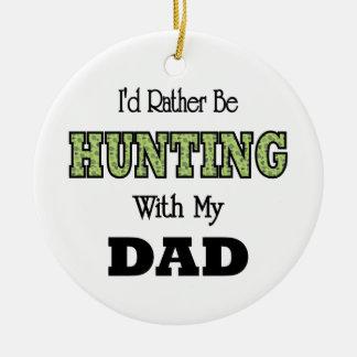 Estaría cazando bastante con el papá adorno navideño redondo de cerámica