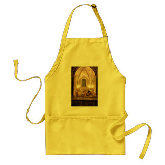 Estaría cenando bastante en Provence, amarilla Delantal