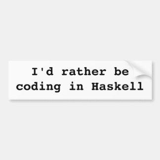Estaría cifrando bastante en Haskell Etiqueta De Parachoque