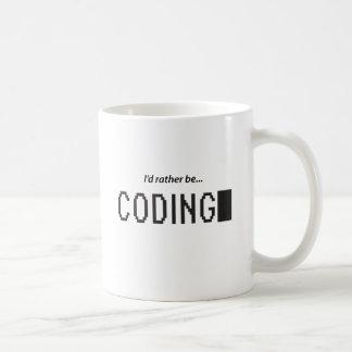 Estaría cifrando bastante taza de café