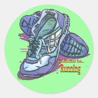 Estaría corriendo bastante - las zapatillas de dep pegatinas redondas