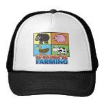 ¡Estaría cultivando bastante! (granjero virtual) Gorros Bordados