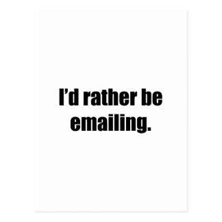 Estaría enviando por correo electrónico bastante postal