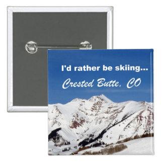 Estaría esquiando bastante, la mota con cresta, CO Pin Cuadrada 5 Cm
