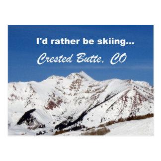 Estaría esquiando bastante, la mota con cresta, CO Postales