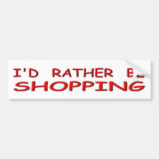 estaría haciendo compras bastante pegatina para auto