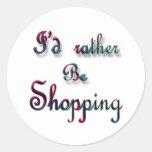 Estaría haciendo compras bastante etiquetas redondas