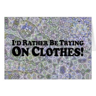 Estaría intentando bastante en la ropa - Multi-Pro Tarjeton