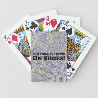 Estaría intentando bastante en los zapatos - baraja de cartas bicycle
