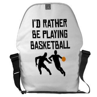 Estaría jugando bastante a baloncesto bolsa de mensajeria