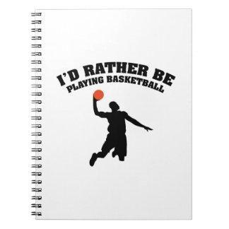 Estaría jugando bastante a baloncesto libretas