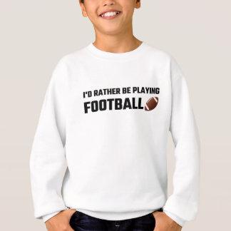 Estaría jugando bastante a fútbol sudadera