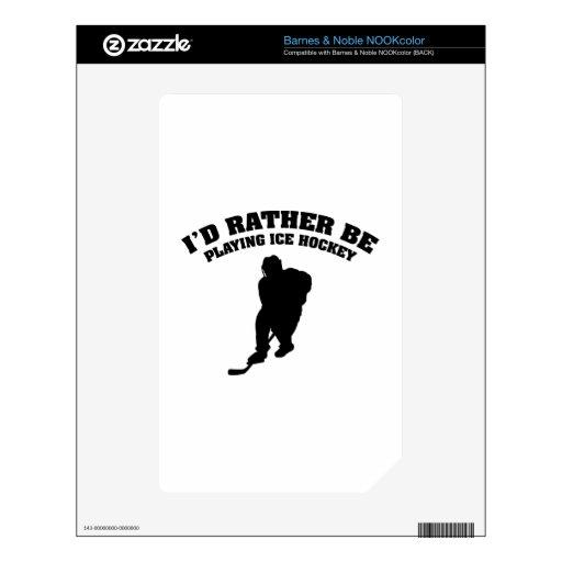 Estaría jugando bastante a hockey sobre hielo calcomanías para NOOK color