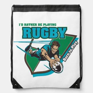 Estaría jugando bastante a rugbi mochila