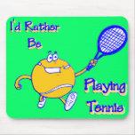 Estaría jugando bastante a tenis tapetes de ratones