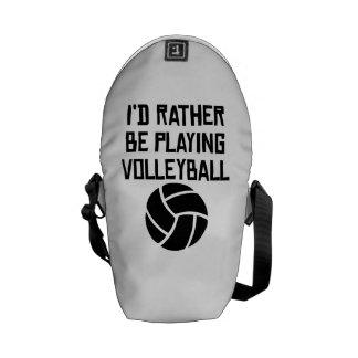 Estaría jugando bastante a voleibol bolsa messenger