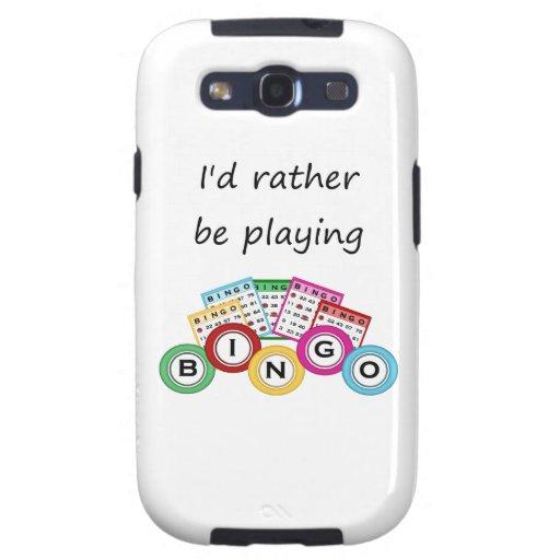 Estaría jugando bastante bingo galaxy SIII coberturas