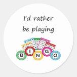 Estaría jugando bastante bingo pegatinas redondas