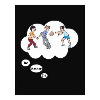 """Estaría jugando bastante Dodgeball 2 Folleto 8.5"""" X 11"""""""