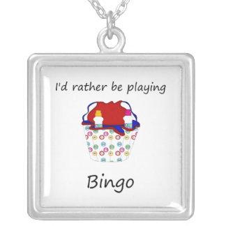 Estaría jugando bastante el bingo (el bolso) colgante cuadrado