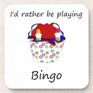 Estaría jugando bastante el bingo (el bolso) posavasos de bebida