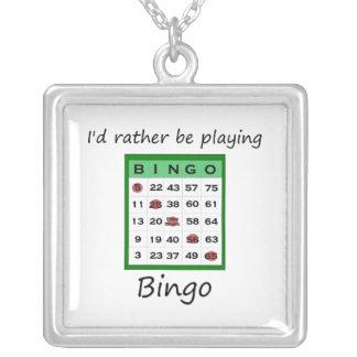 Estaría jugando bastante el bingo (la tarjeta) colgante cuadrado