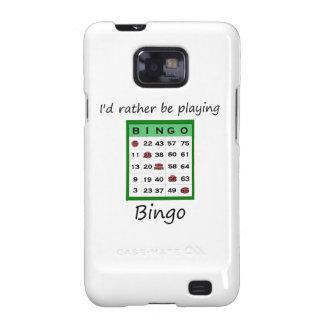 Estaría jugando bastante el bingo (la tarjeta) galaxy SII fundas