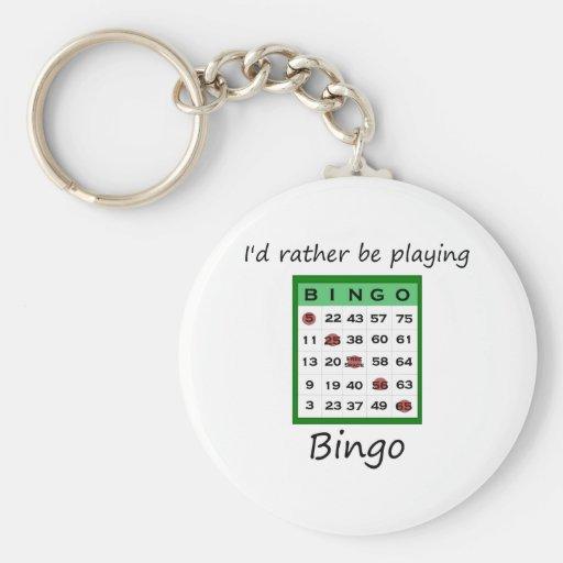 Estaría jugando bastante el bingo (la tarjeta) llavero personalizado