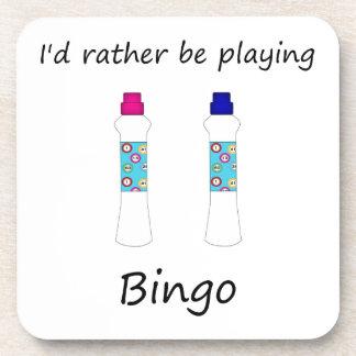 Estaría jugando bastante el bingo (los embadurnado posavaso