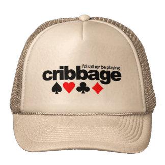 Estaría jugando bastante el gorra de Cribbage - el