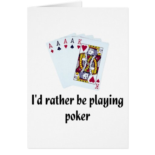 Estaría jugando bastante el póker tarjeta