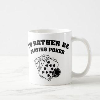 Estaría jugando bastante el póker taza básica blanca