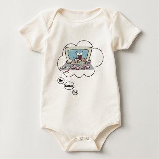 Estaría jugando bastante el solitario trajes de bebé