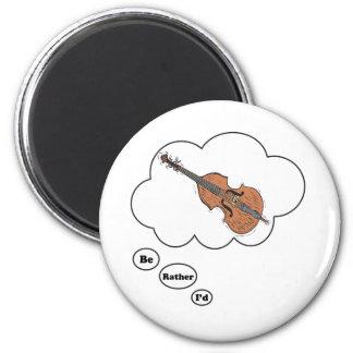 estaría jugando bastante el violín imán redondo 5 cm