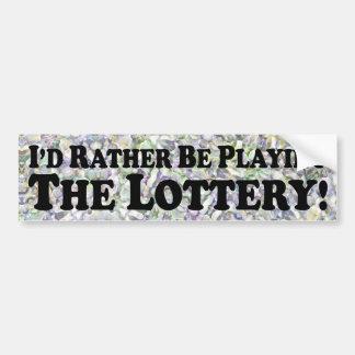 Estaría jugando bastante la lotería - pegatina par pegatina para auto