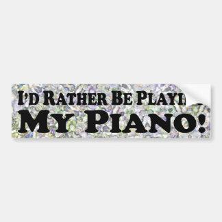 estaría jugando bastante mi piano - pegatina para  etiqueta de parachoque