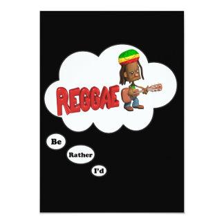 """estaría jugando bastante reggae invitación 5"""" x 7"""""""