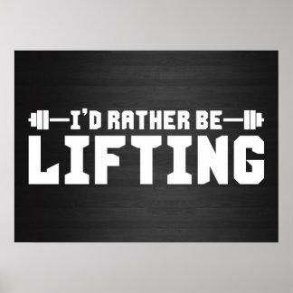 Estaría levantando bastante - Bodybuilding Póster