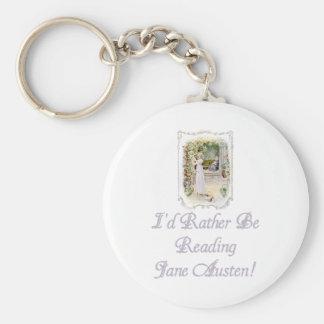 ¡Estaría leyendo bastante a Jane Austen! Llavero