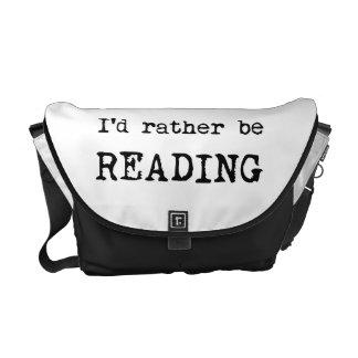 Estaría leyendo bastante bolsas de mensajería