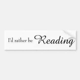 Estaría leyendo bastante Bumpersticker Pegatina Para Auto