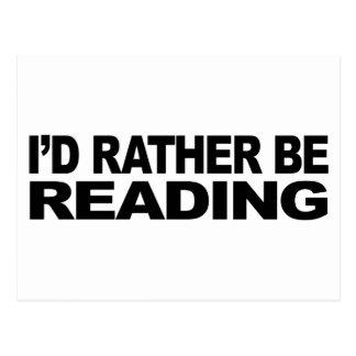 Estaría leyendo bastante postal