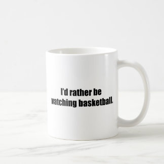 Estaría mirando bastante baloncesto taza básica blanca