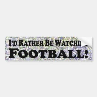 Estaría mirando bastante el fútbol - pegatina para pegatina para auto