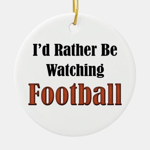 Estaría mirando bastante fútbol adorno redondo de cerámica